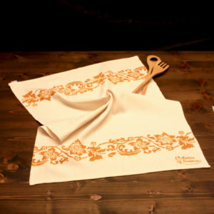 asciugamano-cucina-cotone-acanto-ruggine